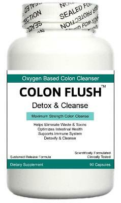 Colon Cleanser Gut Detox Pills IBS Parasites Digestive System Bloating Cleanse