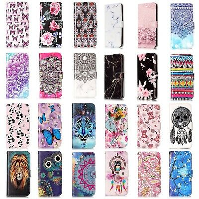 Leather Flip Wallet Case Cover For Samsung Galaxy S7 S8 S9 Plus Edge A3 A5 J3 J5
