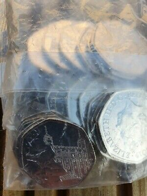 2019 Paddington Bear At The Tower of London 50p's sealed bags