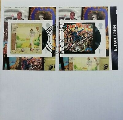 GB 2019 pair of very fine used Elton John Booklet Self Adhesive Stamps