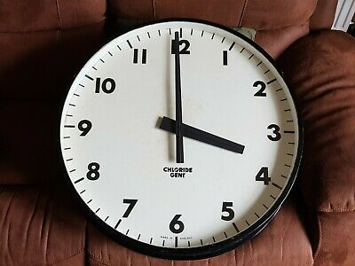 Large Chloride Gent electric factory clock