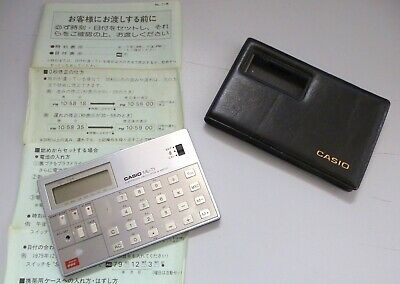 Calculadora musical CASIO ML-71 con funda + manual (Japonés). Año 1980