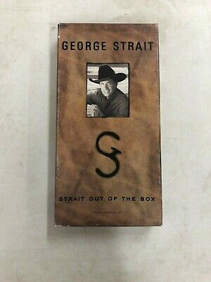 George Strait Out Of The Box 4 Cassette Set Booklet Opened Box Cassettes Sealed