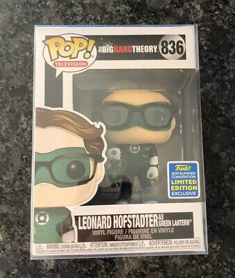 Funko Pop! BBT Leonard Hofsted As Green Lantern SDCC w/ SOFT PROTECTOR