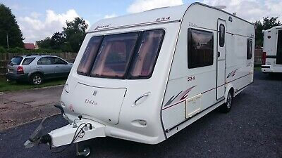 2006 Elddis Avante 534. 4 Berth Fixed Bed, Awning And Extras.no Damp,New Tyres