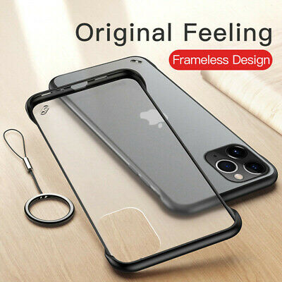 Slim Frameless Case For iPhone 11 Pro XS Max 6S 7 8 Plus Transparent Matte Cover