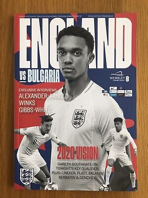 England v Bulgaria Programme (Euro 2020 Qualifiers) 7th September 2019