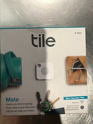 Tile Mate Tracker 4-pack (2018 Model) (White/Gray) NEW FREE SHIPPING