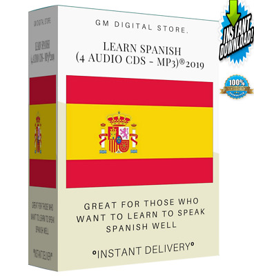 """Learn Spanish (4 Audio CDS -Mp3) """" INSTANT DELIVERY"""""""