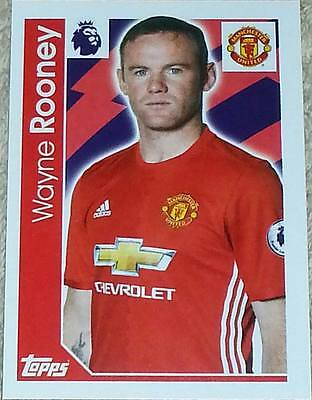 199 Wayne Rooney MAN UNITED 2016/2017 Topps Merlin Premier League sticker