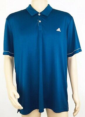 Adidas Mens Advantage Solid Golf Polo Size XL Navy Short Sleeve NEW FLAW