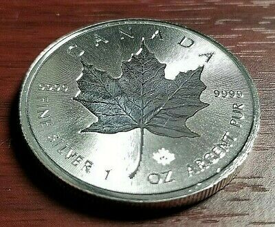 Roll - 2018 Canada Incuse .9999 Silver Maple Leaf Coins- Tube of (25) 1oz Coins!