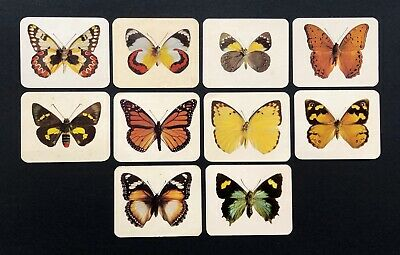 Vintage NABISCO BUTTERFLIES OF AUSTRALIA TRADING CARDS - 10 CARDS