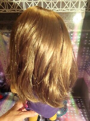 """American Girl MY AG CURLY PONYTAIL BROWN for 18/"""" Dolls Hair Extension Retired"""