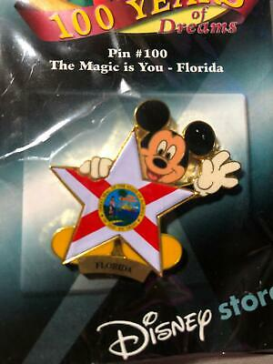 Disney 100 Years of Dreams Mickey Mouse The Magic Is You Florida Pin 100