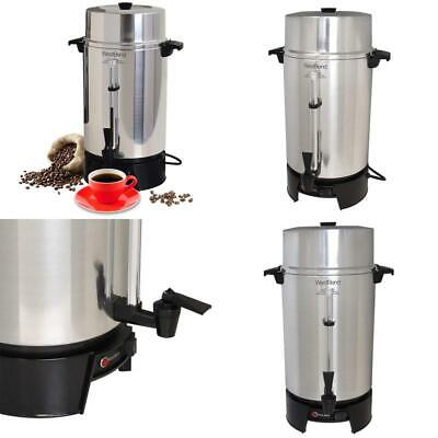 West Bend 33600 Highly Polished Aluminum Commercial Coffee Urn Features Automati