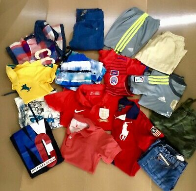Boys SZ 8 clothing clothes adidas Nike lots soccer tops country rd Hilfiger Polo