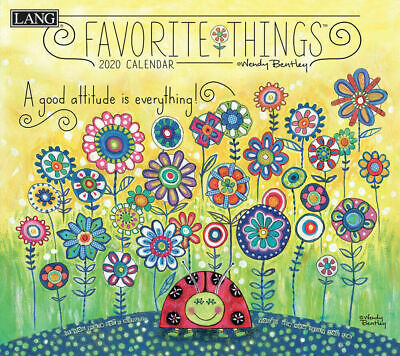 Favourite Things 2020 Inspirational Wall Calendar by Lang 34 x 30.5, 20991001857