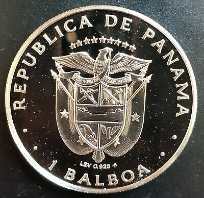 1975 Panama 1 Balboa Silver Proof Coin....(Cameo Proof).....
