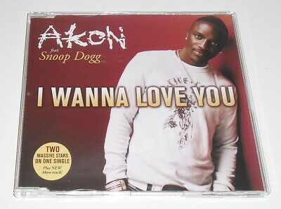 AKON ft SNOOP DOGG - I WANNA LOVE YOU - 2007 UK 2 TRACK CD SINGLE