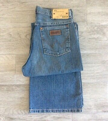 Boys Wrangler Loose Fit Jeans Blue Faded Denim Style W341 W29 - Age 15 Yrs