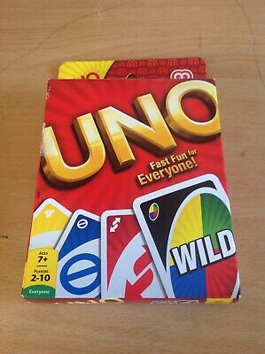 Uno Card Game - Mattel - VGC - Complete - With Instructions