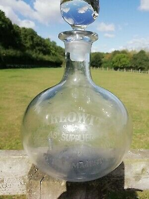 Victorian Onion Shaped Glass Decanter Carlowitz Flagon Queens Royal Warrant