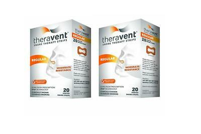 Theravent Snore Therapy Strips - REGULAR - Set of (2) 20 ct = 40 ct Sleep Strips