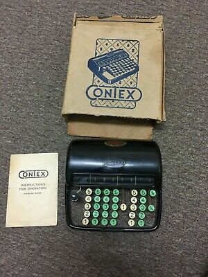 Contex Mechanical Calculator Adding Machine 1950's Bakelite Made In Denmark Rare