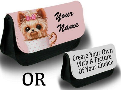 Long Pencil Case AD-Y11CA Yorkshire Terrier Dog Family School or Office Large