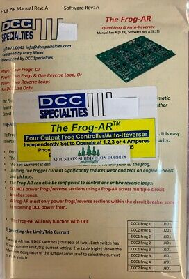 DCC Specialties FROG-AR Quad Output Frog Auto-Reverse and Reverse Loops $5 offer