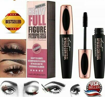 4D Black Silk Fiber Eyelash Mascara Curl & Lengthen Extension Waterproof~NIB~USA
