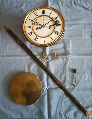 A Original Vienna Regulator Movement For Parts Or Projects  Late 19 Th Century