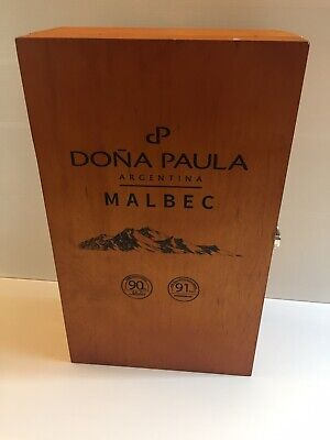 Beautiful Collectable DONA PAULA Wooden Twin Wine Box - Argentina Malbec - Empty