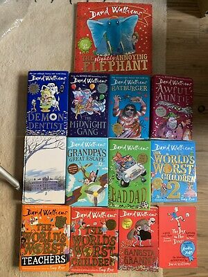 David Walliams 13 Books Set 11 Hardback, 2 Paperback Worst Teachers, Children