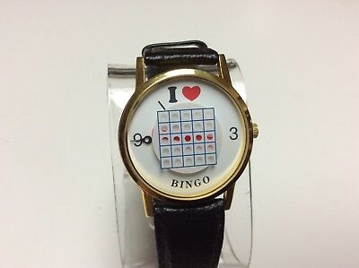 I love bingo watch by MSR Imports, new old stock,very collectible,nice     L984A