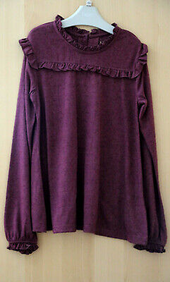 Next Girls Gorgeous Berry Ruffle Top Age 9 Years BNWT