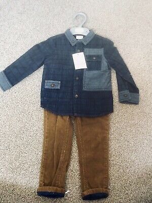 Boots Mini Club Baby Boys Outfit Shirt & Trousers 1/5-2 Years BNWT