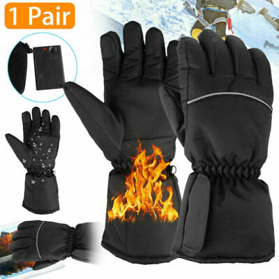 Motorbike Motorcycle Heated Gloves Winter Warm Battery Electric Touchscreen 2020