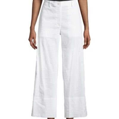Theory Fluid Cropped Wide-Leg Pants Size 8 Retail $285