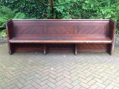 Church Pew Pitch pine  Good Strong condition 150 yrs old approx