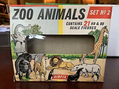 Airfix Zoo Animals Early Set No 2 In Excellent Condition