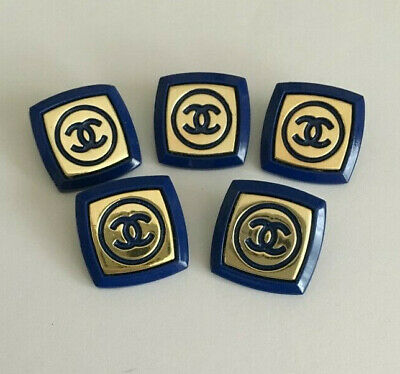 5 Chanel buttons, stamped