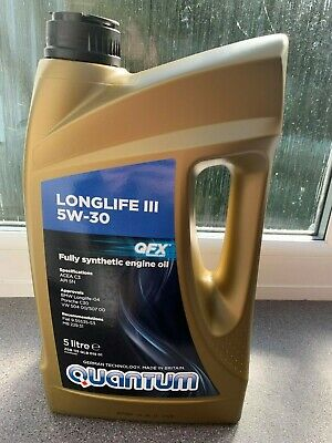 Quantum Longlife 3 5W-30 Fully Synthetic Engine Oil 5 Litres Volkswagen VAG