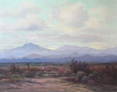 JOHN ANTHONY CONNER Original Signed California Oil Painting Large 24 x 30 LISTED