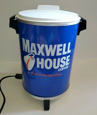 Vintage 1982 Maxwell House Brew Coffee Pot Dispenser Advertising Can Man Cave