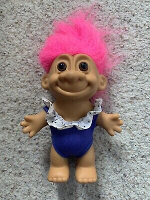 Russ Troll Swimmer Retro Vintage Collectable Pink Hair 90s Toy