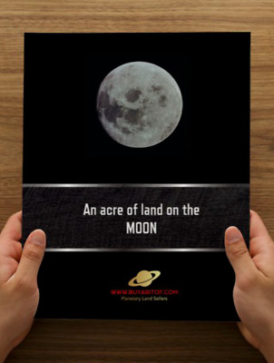 Own An Acre of Land on the Moon, with personalised Lunar Land Deed and Much more