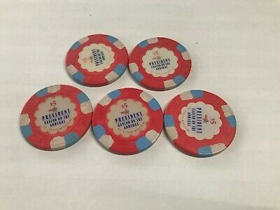 5 Paulson President Casino On The Admiral Chip