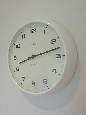 Vintage Smiths Sectic School Clock Working Order battery wall railway factory